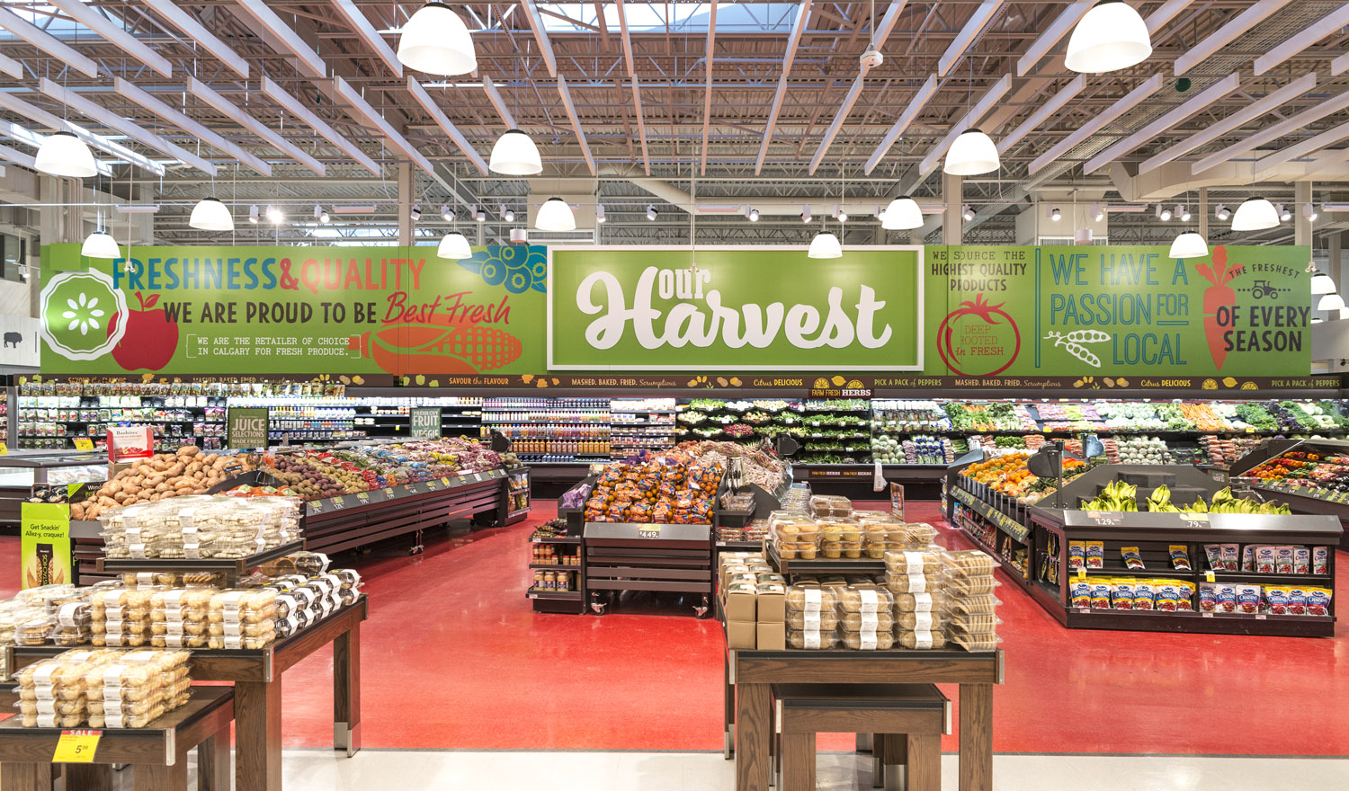 Produce Wall wrap with Dimensional Letters